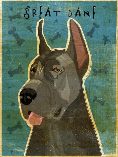 Great Dane Blue-John W Golden-Giclee Print