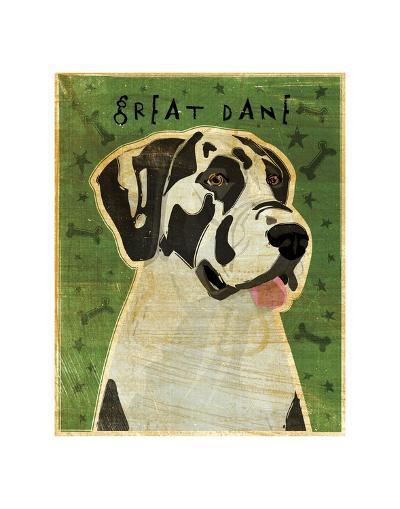 Great Dane (Harlequin, no crop)-John Golden-Giclee Print