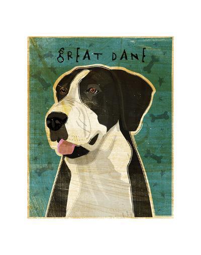 Great Dane (Mantle, no crop)-John W^ Golden-Art Print