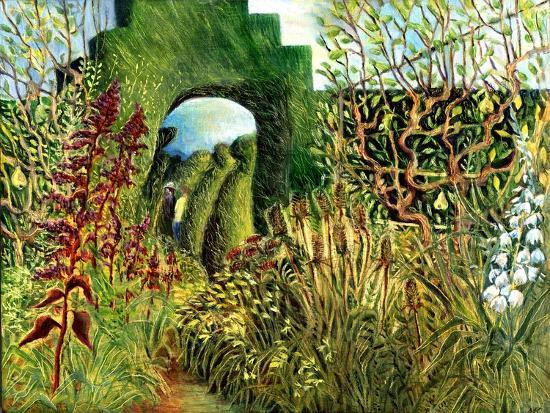 Great Dixter: Topiary and Flowers-Mary Kuper-Giclee Print
