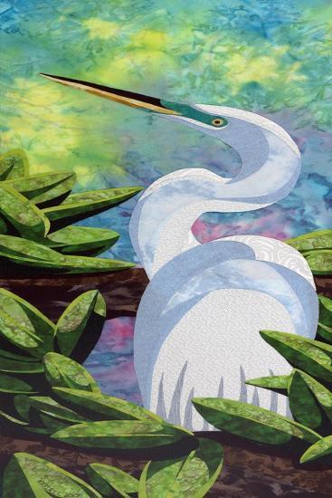 Great Egret-Kestrel Michaud-Giclee Print