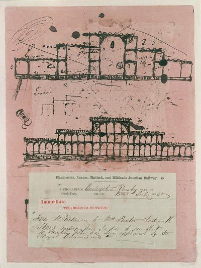Great Exhibition, 1851: First Sketch for the Building, 1850-Sir Joseph Paxton-Giclee Print