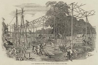 Great Exhibition of 1851, Progress of the Building in Hyde Park--Giclee Print