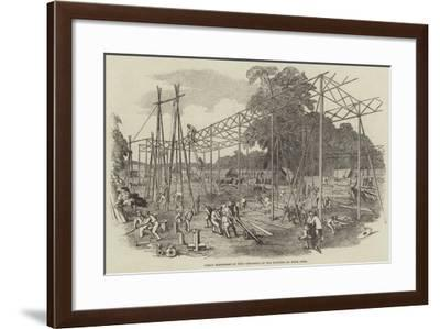 Great Exhibition of 1851, Progress of the Building in Hyde Park--Framed Giclee Print