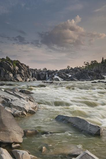 Great Falls of the Potomac River, from Fishermen's Eddy on the Virginia Side-Irene Owsley-Photographic Print