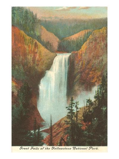 Great Falls, Yellowstone Park, Montana--Art Print