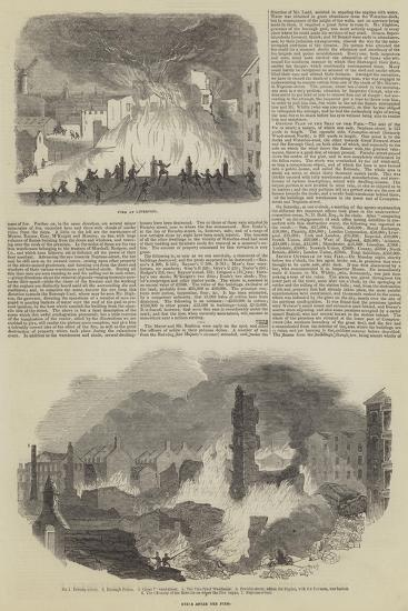 Great Fire and Loss of Life in Liverpool--Giclee Print