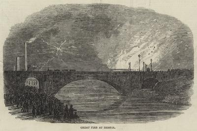Great Fire at Bristol--Giclee Print