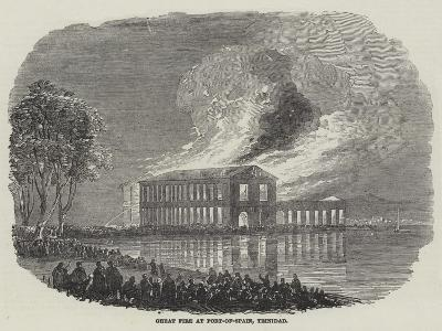 Great Fire at Port-Of-Spain, Trinidad--Giclee Print