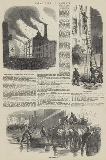 Great Fire in Lambeth--Giclee Print
