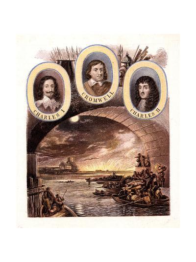Great Fire of London, 1666-Kronheim & Co-Giclee Print