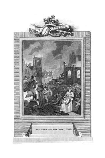 Great Fire of London, 1666--Giclee Print