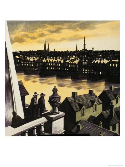 Great Fire of London-Ron Embleton-Giclee Print