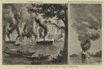 Great Fire on the Hooghly, Near Calcutta--Giclee Print