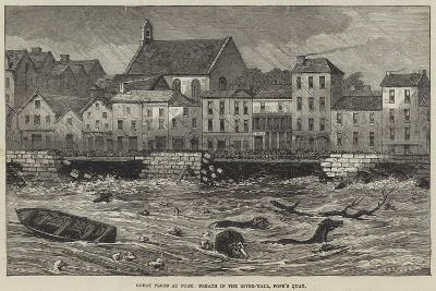 Great Flood at Cork, Breach in the River-Wall, Pope's Quay--Giclee Print