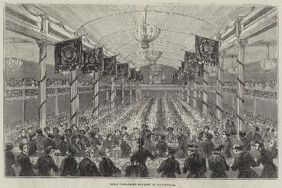 Great Free-Trade Banquet at Manchester--Giclee Print