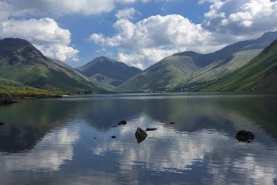 Great Gable, Lingmell, and Yewbarrow, Lake Wastwater, Wasdale-James Emmerson-Photographic Print