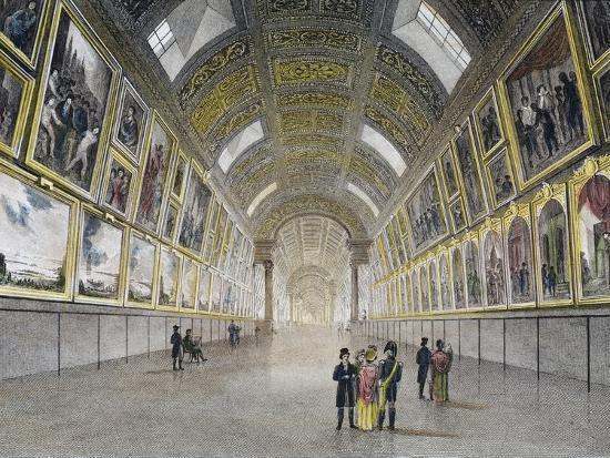 Great Gallery of Louvre, France, 18th Century--Photographic Print