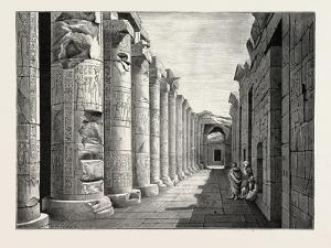 Great Hall of Abydos, Egypt, 1879