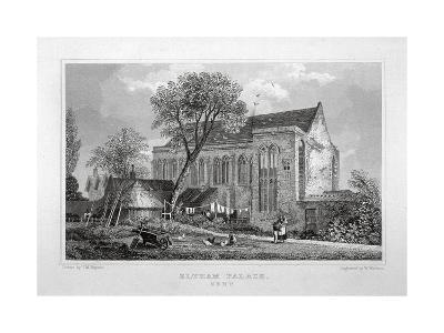 Great Hall of Eltham Palace, Kent, C1830-W Watkins-Giclee Print