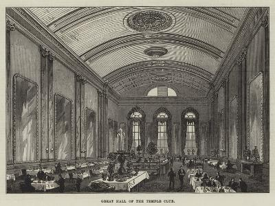 Great Hall of the Temple Club-Frank Watkins-Giclee Print