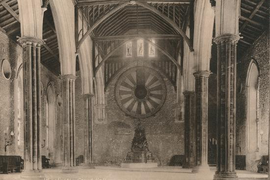 Great Hall of Winchester Castle, Hampshire, early 20th century(?)-Unknown-Photographic Print
