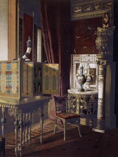 Great Hall, Van Der Bilt Hotel in New York, Bedroom, Ca 1840, Color, 19th Century, Usa--Giclee Print