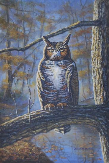 Great Horned Owl-Bruce Dumas-Giclee Print
