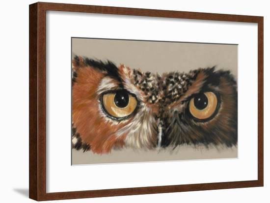 Great Horned Owl-Barbara Keith-Framed Giclee Print
