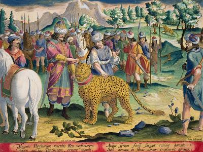 Great King of the Parthians Hunts, Plate 9 Venationes Ferarum, Avium, Piscium-Jan van der Straet-Giclee Print