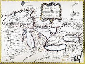 Great Lakes Map, 1755
