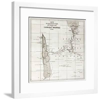 Great Lakes Region Old Map, Eastern Africa-marzolino-Framed Premium Giclee Print