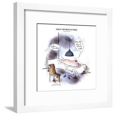 GREAT MOMENTS IN MUSIC-'Delius was blind.' - New Yorker Cartoon-Ronald Searle-Framed Premium Giclee Print