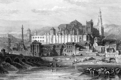 Great Mosque and the Dungeon of the Inquisition, Cordoba, Spain, 19th Century-Thomas Higham-Giclee Print