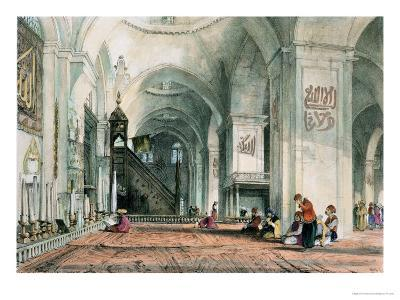 Great Mosque at Brussa, Plate 24, Illustrations of Constantinople, Engraved by Artist, Pub. 1838-John Frederick Lewis-Giclee Print
