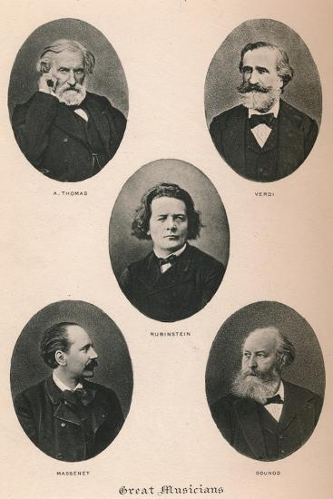 'Great Musicians - Plate I.', 1895-Unknown-Photographic Print