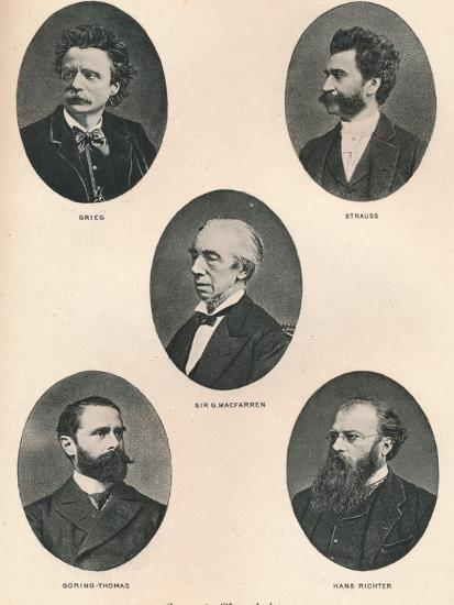 'Great Musicians - Plate IX.', 1895-Unknown-Photographic Print