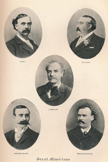 'Great Musicians - Plate VI.', 1895-Unknown-Photographic Print
