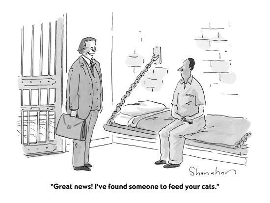 """""""Great news! I've found someone to feed your cats."""" - Cartoon-Danny Shanahan-Premium Giclee Print"""