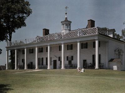 Great Piazza on the Mount Vernon Estate Faces the Potomac River-Clifton R^ Adams-Photographic Print