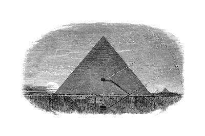 Great Pyramid of Cheops at Giza Being Used as an Astronomical Observatory--Giclee Print