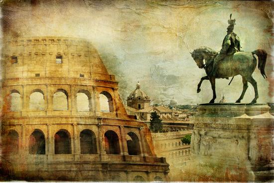 Great Rome - Artwork In Painting Style-Maugli-l-Art Print