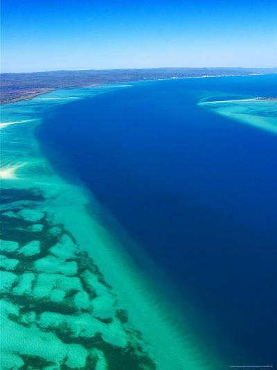 Great Sandy Straits and Fraser Island , Queensland, Australia-David Wall-Photographic Print