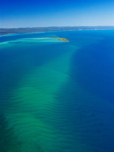 Great Sandy Straits, Little Woody Island and Fraser Island, Queensland, Australia-David Wall-Photographic Print