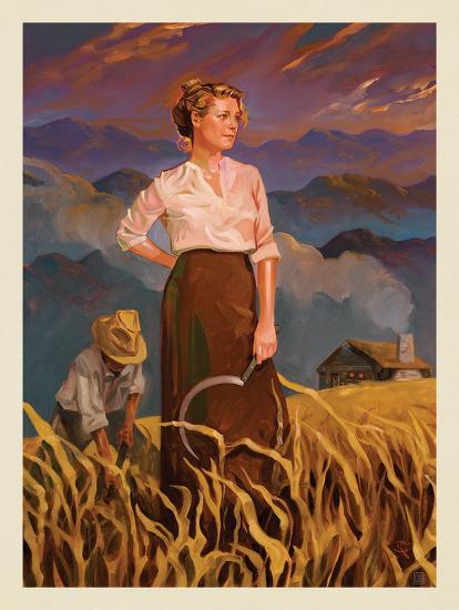 Great Smoky Mountains National Park: Pioneer Woman-Anderson Design Group-Art Print