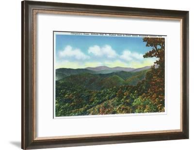 Great Smoky Mts. Nat'l Park, Tn - Clingman's Dome View, c.1940-Lantern Press-Framed Art Print