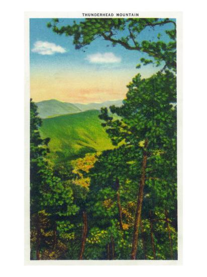 Great Smoky Mts. Nat'l Park, Tn - View of Thunderhead Mountain, c.1946-Lantern Press-Art Print