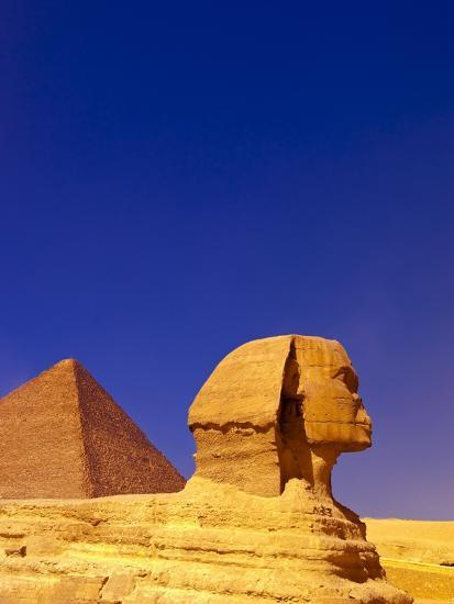 Great Sphinx and Pyramids at Giza-Blaine Harrington-Photographic Print