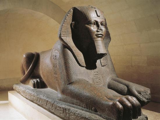 Great Sphinx of Tanis, Pink Granite--Giclee Print