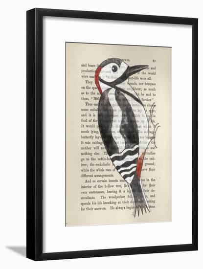 Great Spotted Woodpecker-Jane Wilson-Framed Premium Giclee Print